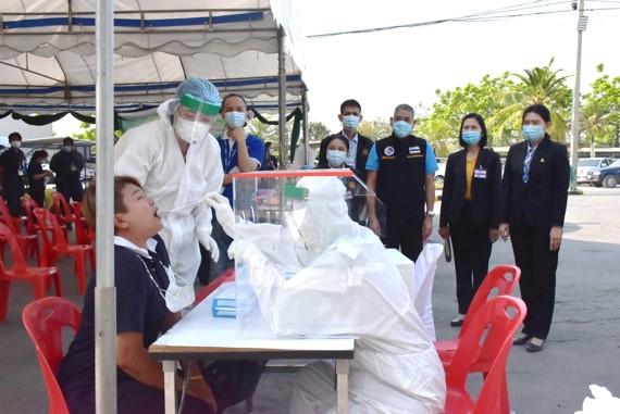 สรจ.สมุทรสงคราม ร่วมพิธีเปิดการตรวจคัดกรองการติดเชื้อไวรัสโคโรนา 2019